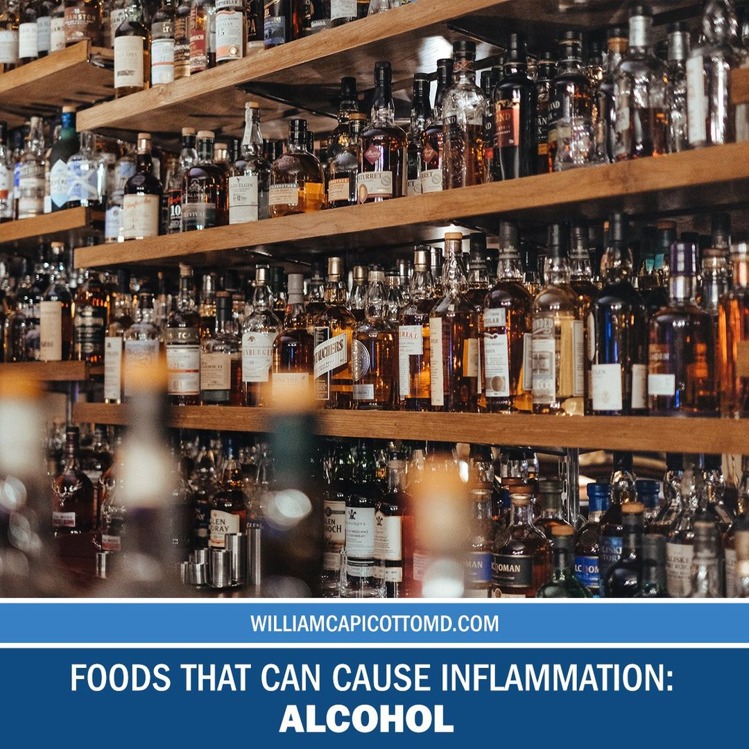 5 Common Foods that can Increase Inflammation Levels: Alcohol